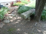 Old Stone Bench at Weiss Cottage